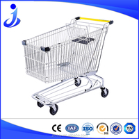 High Quality Shopping Cart Trolley With 4 Wheels Approved By SGS
