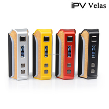Authentic Pioneer4you ipv velas 120w tc box mod with high end yihi 410 chip and 7 color LED strip vape wholesale ipv velas