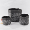 household round black washable kraft paper storage bags