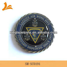 SM-SC0191 die cut spinner coin with diamond cut edge