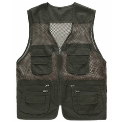 Summer cotton mesh pockets vest for fishing or photography