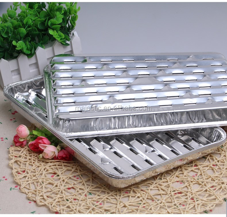 High quality disposable BBQ grill aluminium foil pan dedicated