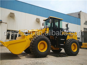 ZL50G wheel loader bucket capacity 2.7-4.5m3 160KWengine 23.5-25tire