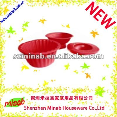 Red Silicone kitchen baking cake mold