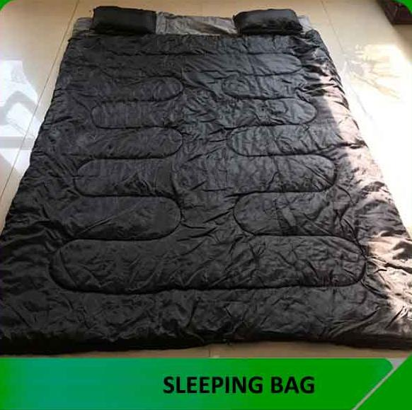 Double Sleeping Bag with 2 Pillows and a Carrying Bag for Camping