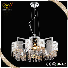 pendant lamp with crystal modern hanging chrome chandelier