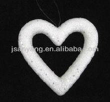 Christmas decorative big glitter craft foam heart