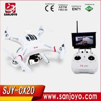 Cheerson CX-20 CX20 4CH remote control RC quadcopter drones with hd camera and gps