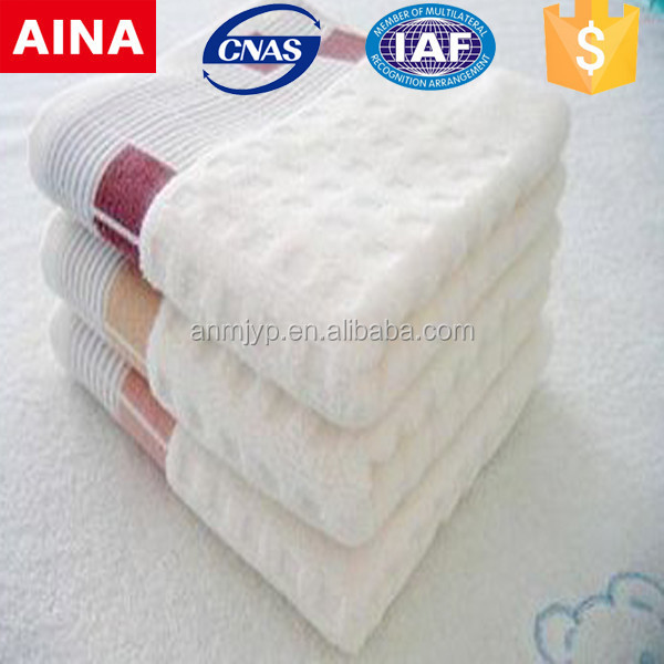 China Top 10 Towels' supplier high quality Dobby Jacquard weave white hammam towel