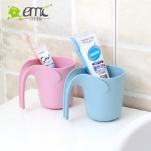 emc plastic cups, plastic cute cup for bathroom, small plastic cups with long handle