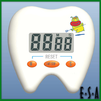 Promotional Tooth shaped mechanical timer,Tooth shape digital countdown timer,mini cute kithcen timer G20B154