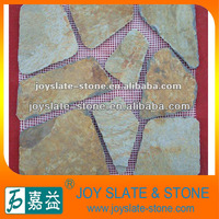Natural slate rusty random paving tiles for outdoor floor