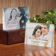 Crystal digital love photo frames awards with your logo for wedding anniversary gift