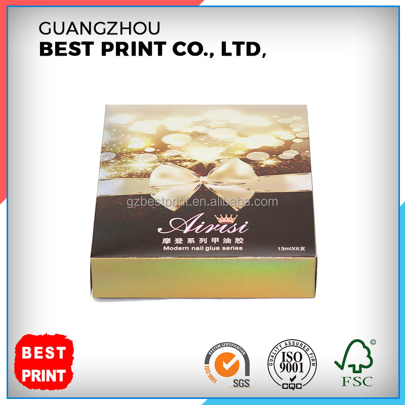 Colorful Custom Recyclable Cosmetics Outer Packaging Paper Box with Spot UV