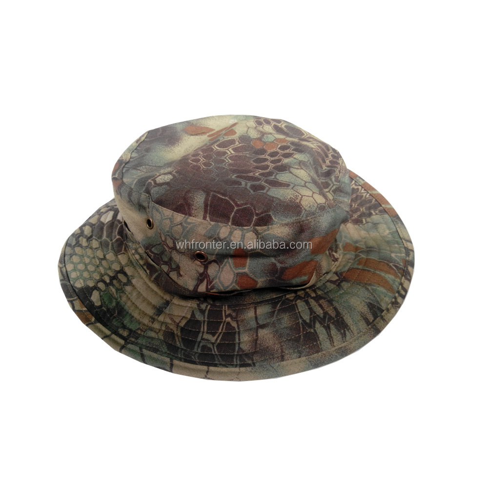 Top quality custom boonie hat Mountain python camo military boonie hat