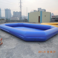Indoor / Outdoor Funny Baby Inflatable Swimming Pools 0.6mm - 0.9mm PVC Tarpaulin