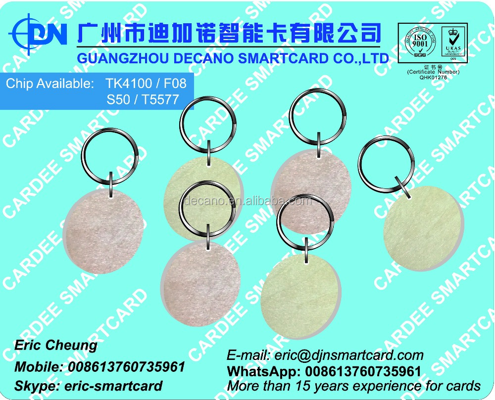 13.56Mhz wood RFID access control key fob