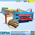 China Double Layer color steel plate cold roll forming machine