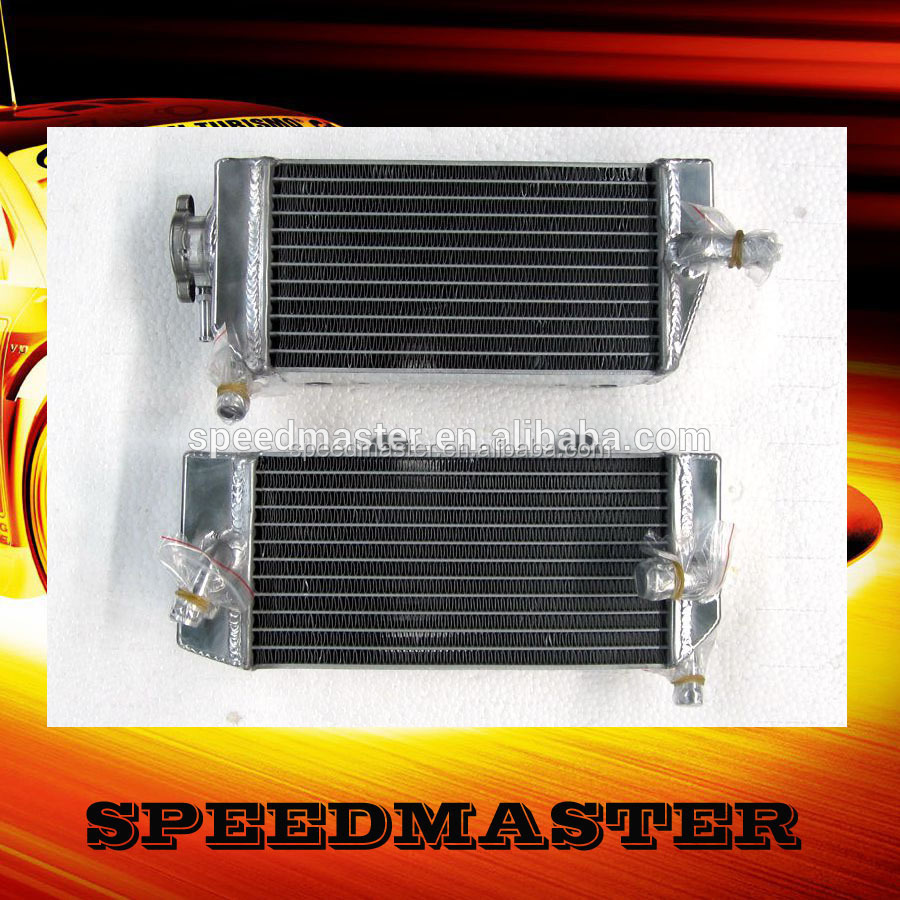 oversized small aluminum motorcycle radiator for YZF250