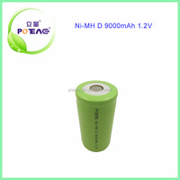 ni-mh d 1.2v rechargeable battery 9000mAh in China
