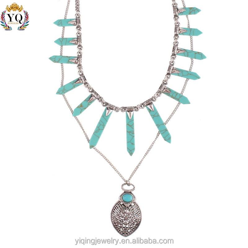 NYQ-00005 new pendants stone accessories turquoise necklace for women
