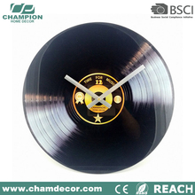 40CM record time design Glass wall Clock , glass wall clock no number