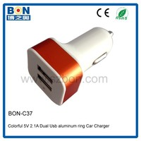 High quality dual usb mobile phone charger for bus driver gift 5V 2.1A