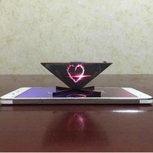 High Quality Universal 3D holographic projector, 3d hologram Pyramid For Mobile Phone, holographic projection pyramid