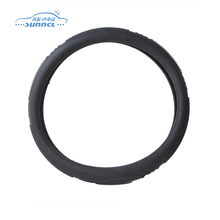 Universal 340mm Folding Silica Gel Car Steering Wheel Cover Black