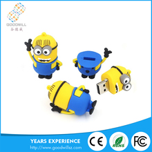 New China products customized small yellow shape usb flash drive 16gb