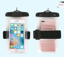 Alibaba HAISSKY pvc waterproof bag Cell phone lycra sport armband case 5.5 inch mobile waterproof armband case