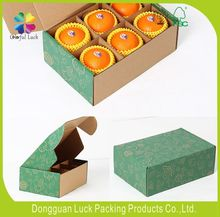 Printed brown corrugated die cut cardboard box for fruit and vegetable fruit carton box oranges