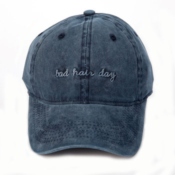 Vintage Styles Embroidery Letter Bad Hair Day Worn-out Washed Baseball Cap