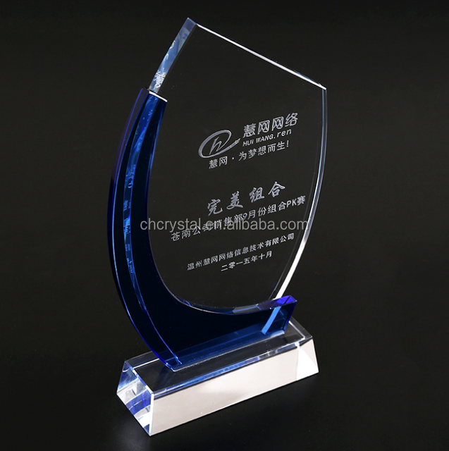 MH-NJ0176 Personalized fashion crystal plaque award crystal plaque