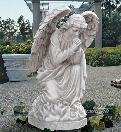 Garden Statues Wholesale Marble Stone Large Merciful Angel Statue Ornament
