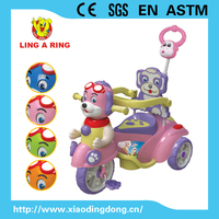Children tricycle with music and light 3 wheel baby tricycle with canopy hot sale cheap kid's tricycle