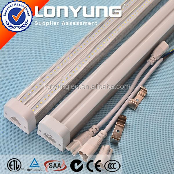 New Patent t5 t16 fluorescent Integrative Double Tube Light 4ft-30w 8ft-60w ETL SAA TUV