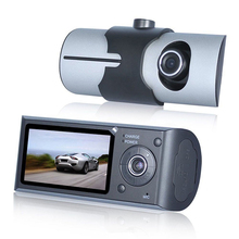 2017 Shenzhen New Design 32 gb Dual Lens Car DVR Front and Rear Car Dash Camera with GPS