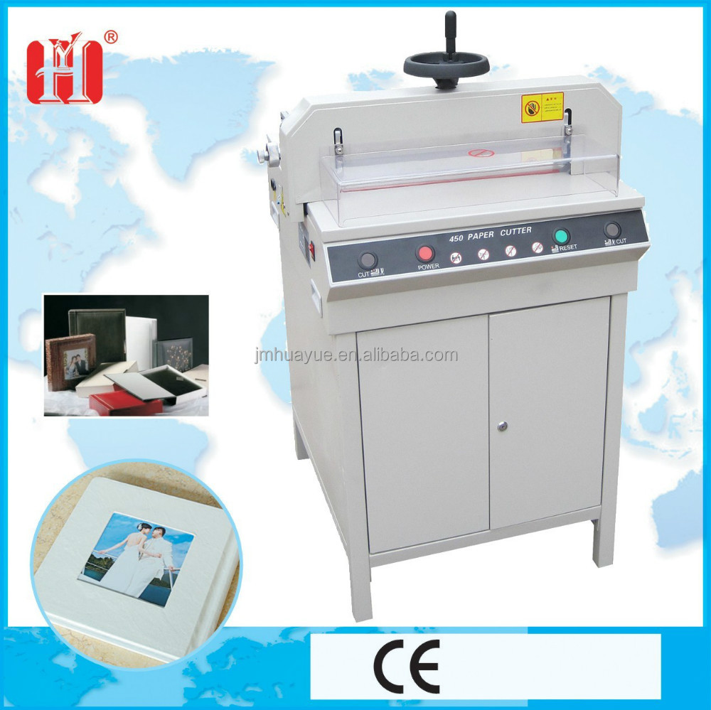 Semi auotomatic manual press book cutter