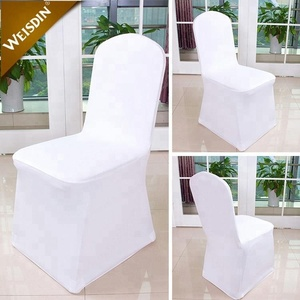 Wholesale cheap stretch banquet wedding decoration white lycra spandex chair cover