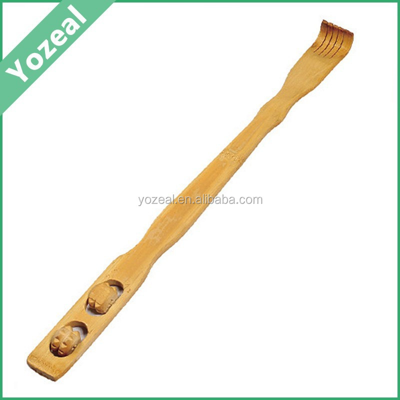 Personalized long handle natural bamboo back scratcher for sale
