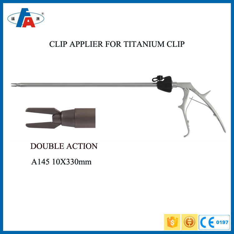 2017 all types of reusable laparoscopic surgical ethicone clip applier for titanium and plastic clip