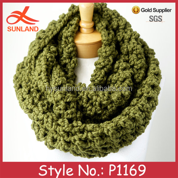 P1169 top sell handmade crochet colorful scarf for women