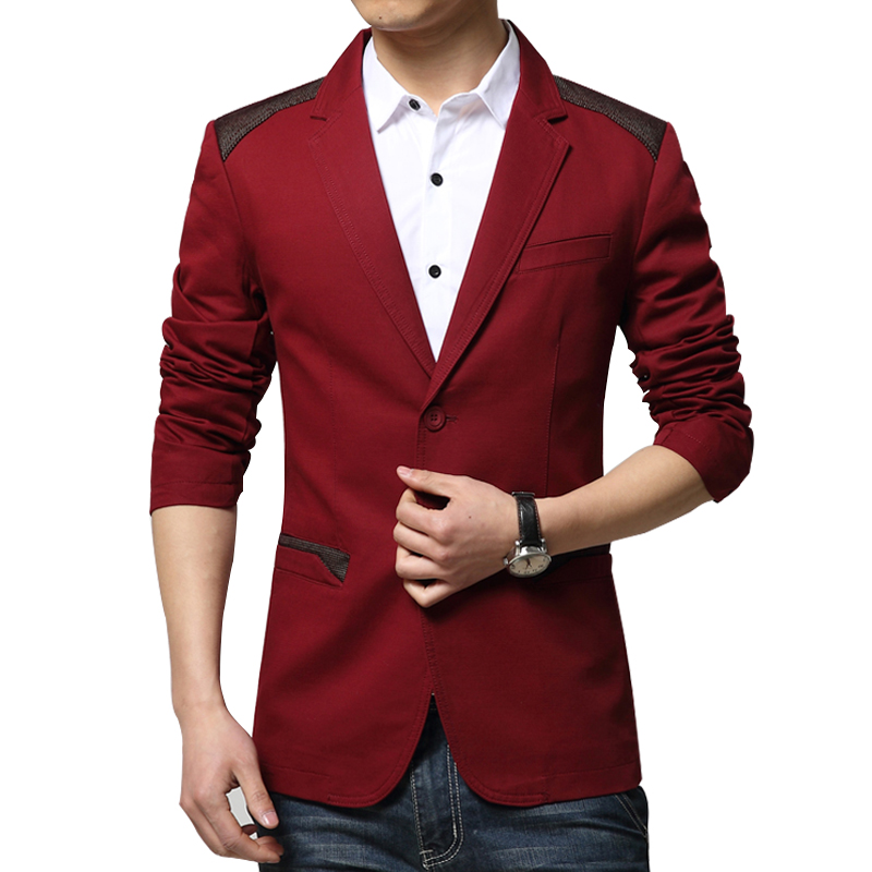 Fashion Men Blazer Splice Men Casual Suits Slim Fit Jacket plus size M to 6XL