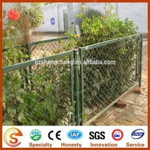 High quality green plastic 9 gauge chain link fence for playground countyard and forest protection