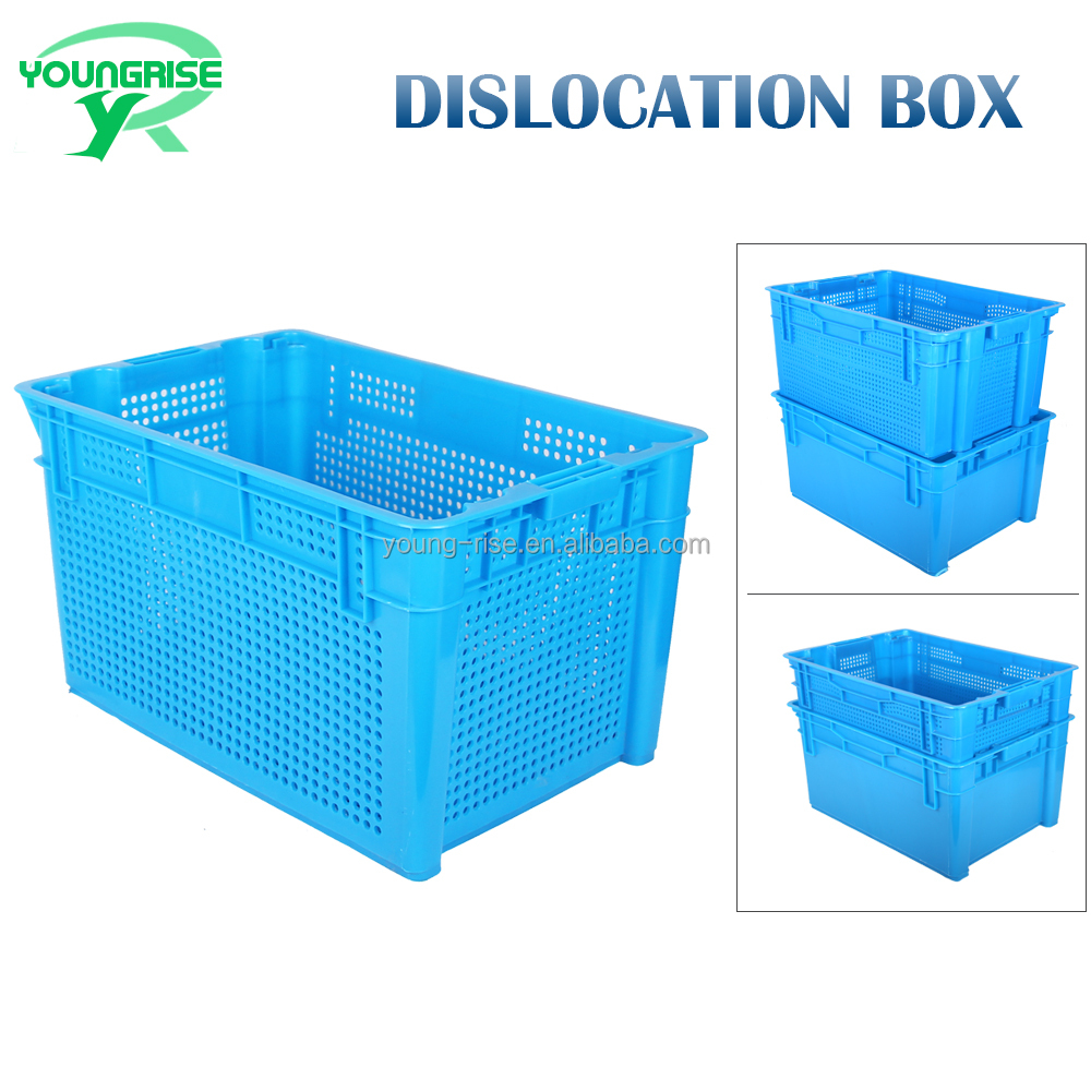 Wholesale Durable Plastic Nesting Crate Industrial Tote Moving Turnover Box
