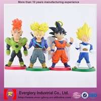 3D OEM small plastic dragon ball figure toys, dragon toys for kids