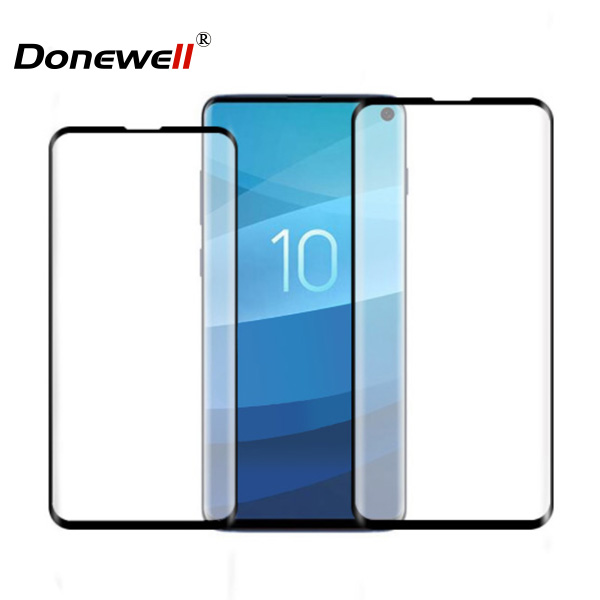 Hot selling 3D Curved Full Cover Tempered Glass Screen Protector for Galaxy S10 S10 plus