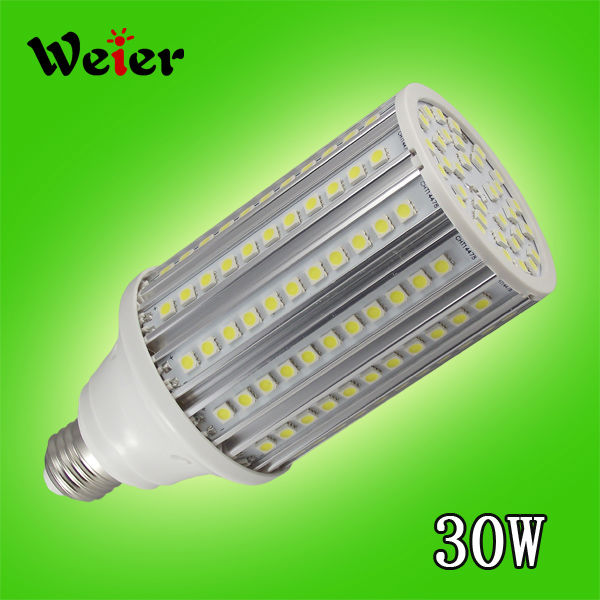 High lumen 30w 5050smd 165pcs led corn light 3000lm