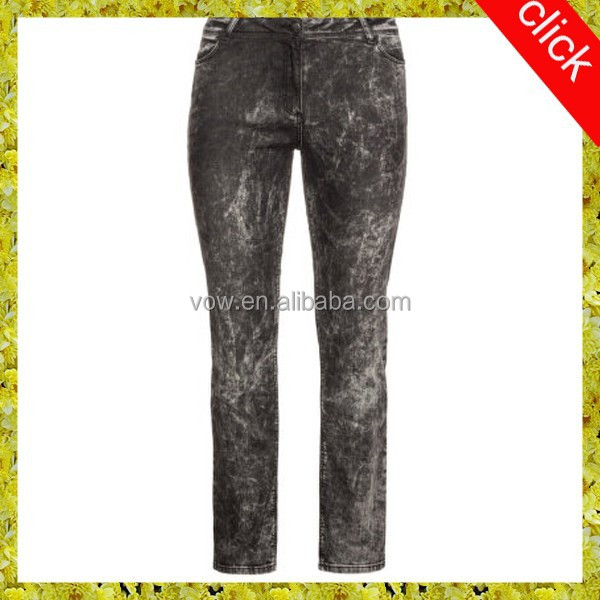 Female show little fat jeans, latest fashion edition branded jeans export German